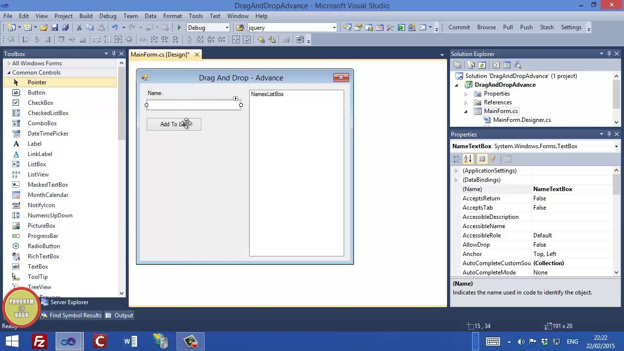 C# How to add drag and drop to ListBox In Urdu (Video 4)