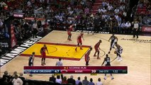 Dwyane Wade to Hassan Whiteside Alley-oop Dunk - Pelicans vs Heat - February 21, 2015 - NBA