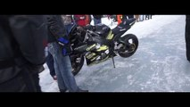 Fastest Wheelie on Ice 2015 - 117.5 mph - Mike Ford Photography