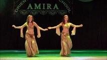 Amazing belly dancing duet - Oriental dance school of Amira Abdi