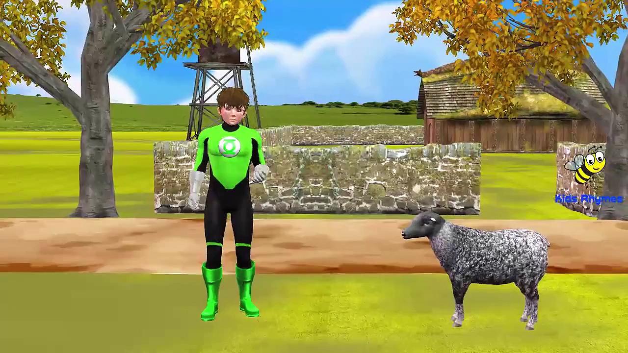 Green Lantern Cartoon Baa Baa Black Sheep Nursery Rhymes for Children | Baa Baa Black Sheep Rhymes