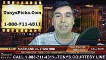 Stanford Cardinals vs. Maryland Terrapins Free Pick Prediction Foster Farms Bowl NCAA College Football Odds Preview 12-30-2014