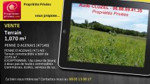 A vendre - terrain - PENNE D AGENAIS (47140) - 1 070m²
