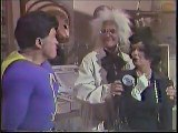 SKETCH  Superiorman with Debbie Reynolds, Sammy Davis, Jr , Pat Boone, Debbie Boone