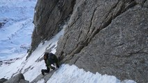 Grandes Jorasses Face Nord Pointe Young Rêve éphémère d'alpiniste
