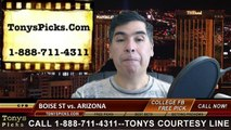 Arizona Wildcats vs. Boise St Broncos Free Pick Prediction Fiesta Bowl NCAA College Football Odds Preview 12-31-2014