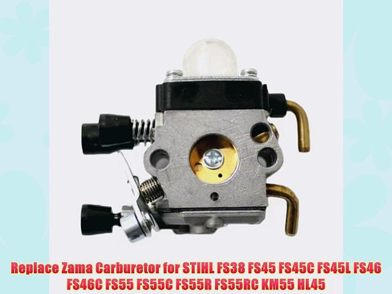 Replace Zama Carburetor for STIHL FS38 FS45 FS45C FS45L FS46 FS46C FS55  FS55C FS55R FS55RC KM55 HL45