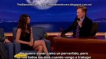 Nina Dobrev Gets Sex Scene Tips From Her Mom   CONAN on TBS sub español