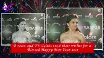 B town and TV Celebs send their wishes for a  Blessed Happy New Year 2015