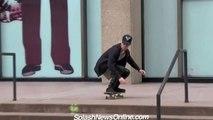 Justin Bieber se ramasse en Skateboard. Belle chute dans les escaliers!