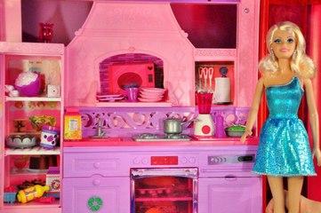 Babrie Rüya Evi Yemek Hazırlığı - Barbie Videoları - Evcilik TV