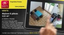 A vendre - maison - ACHERES (78260) - 6 pièces - 122m²