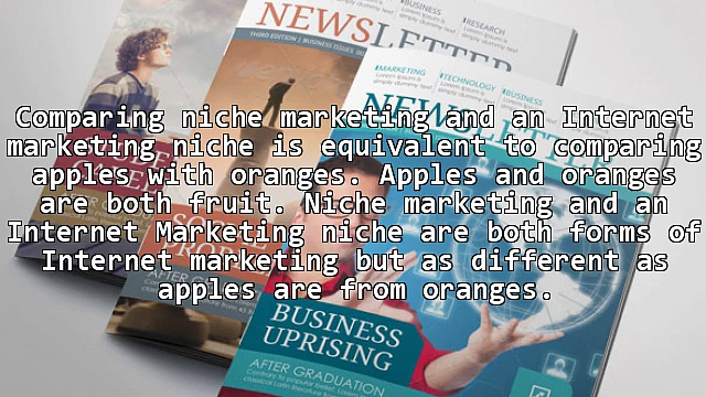 Niche Marketing vs. Internet Marketing Niche