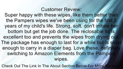 Amazon Elements Baby Wipes, Sensitive, Tub & Refills, 80 Count (Pack of 9) Review