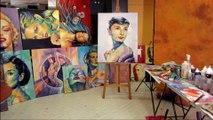 Audrey Hepburn, peinture acrylique Olivier Boutin