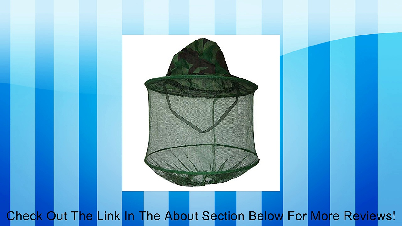 Moonmini Camouflage Mosquito Hat with Head Net Mesh Fishing Beekeeping Hat Review