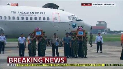 Bodies Of AirAsia Plane Crash Returned To Indonesia.