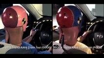 Crash protection - Vehicle improvements 2015 Toyota RAV4 Vs 2013-14 Toyota RAV4 Crash Test