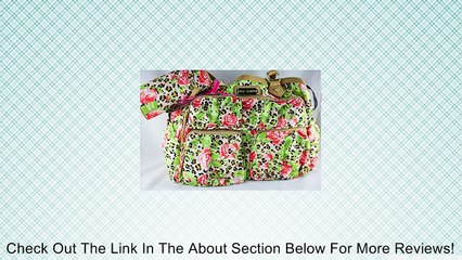 Betsey Johnson Cheetah Rose Natural Diaper Bag Set Review