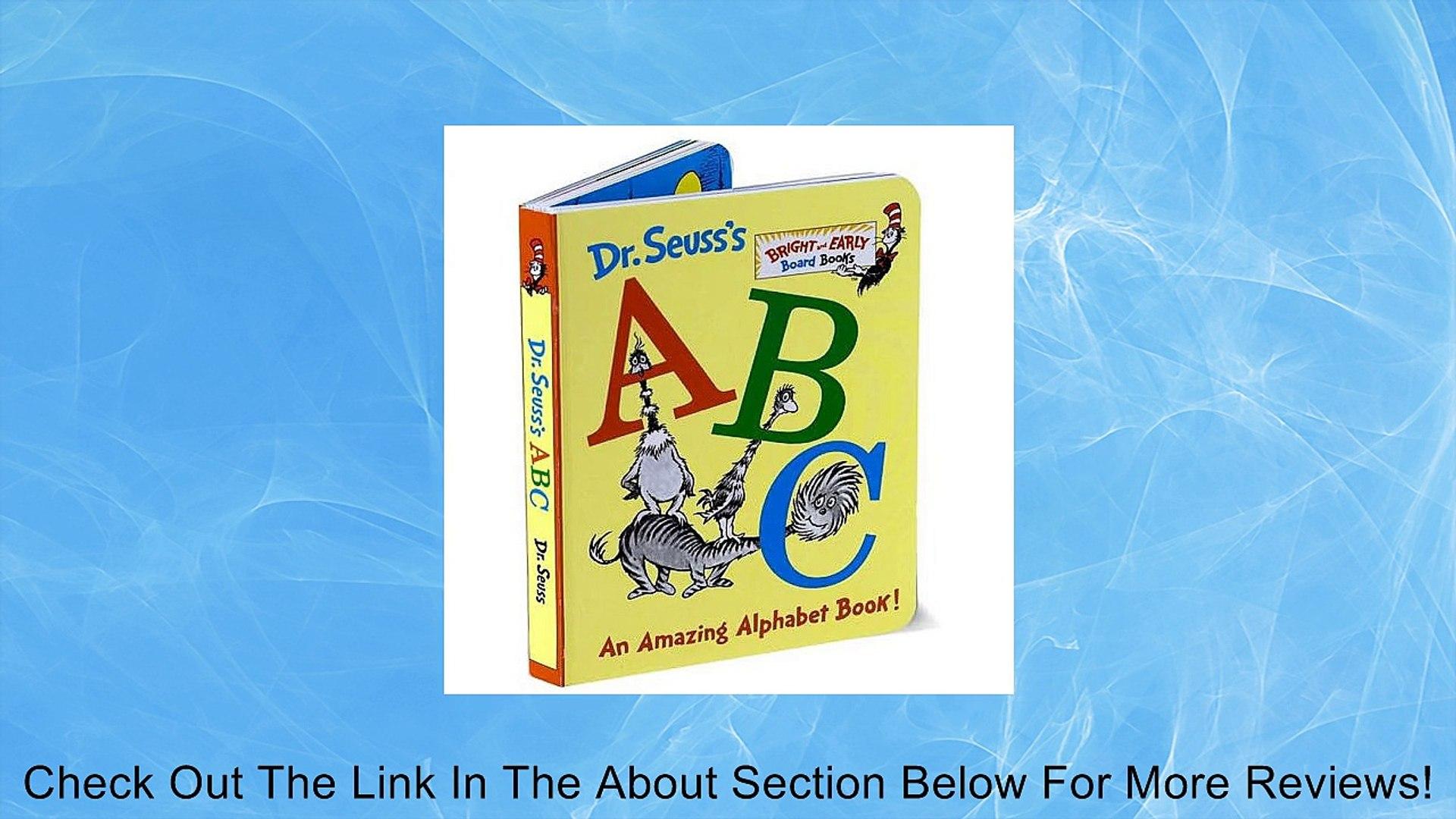 Dr. Seuss's Abc An Amazing Alphabet Board Book Review   video ...