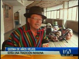 Quema de viejos, una tradición indígena