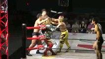 """Novus (Jiro """"Ikemen"""" Kuroshio, Koji Doi, Rionne Fujiwara & Yusuke Kodama) vs. Andy Wu, Daiki Inaba, Hiroki Murase & Yasufumi Nakanoue"""
