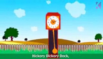 Hickory Dickory Dock | Nursery Rhyme With Lyrics