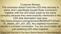 Lighting EVER LED Strip Light Connector, Connector Strip to Strip, Pack of 2 Units Review