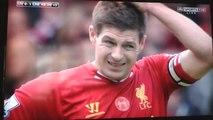 Gerrard escorrega e 'entrega' gol para Chelsea