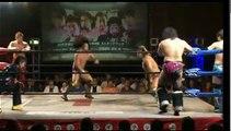 Shuji Kondo, Manabu Soya & Seiki Yoshioka vs. Kaz Hayashi, Hiroshi Yamato & KAI