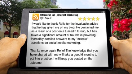 Interverse Inc - Internet Marketing Calgary Remarkable Five Star Review by Tony H.