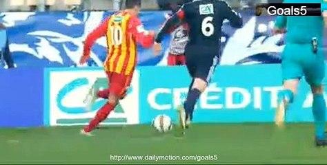 El Jadeyaoui Goal Lens vs Lyon 1 - 3 Coupe de France 4-1-2015