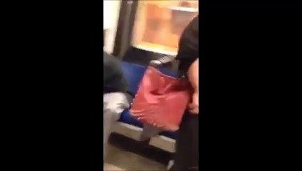 Two Girls Fight In Train