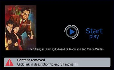 Download The Stranger Starring Edward G. Robinson and Orson Welles In Hd Quality