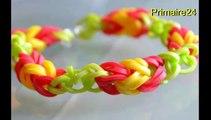 Tuto en français bracelet simple en élastiques Rainbow loom - 4 solutions pour réaliser le même bracelet  DIY