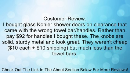 Mont Hard Single Side Shower Door Knob in Polished Chrome Finish for Frameless Heavy Glass Shower Doors Review