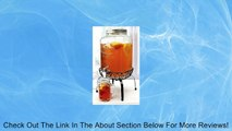 Georgia Peach 2 Gallon Mason Glass Jar Beverage Dispenser With Stand Review