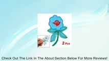 2 Pcs Sky Blue Flower Design Fabric Iron On Embroidery Clothes Patch Applique Review
