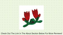 Leaf Flower Embroidery Fabric Patch Iron On Applique Green Red Review