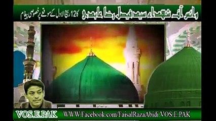وائس آف شھداء سید فیصل رضا عابدی کا 12 ربیع الاول پر خصوصی پیغام