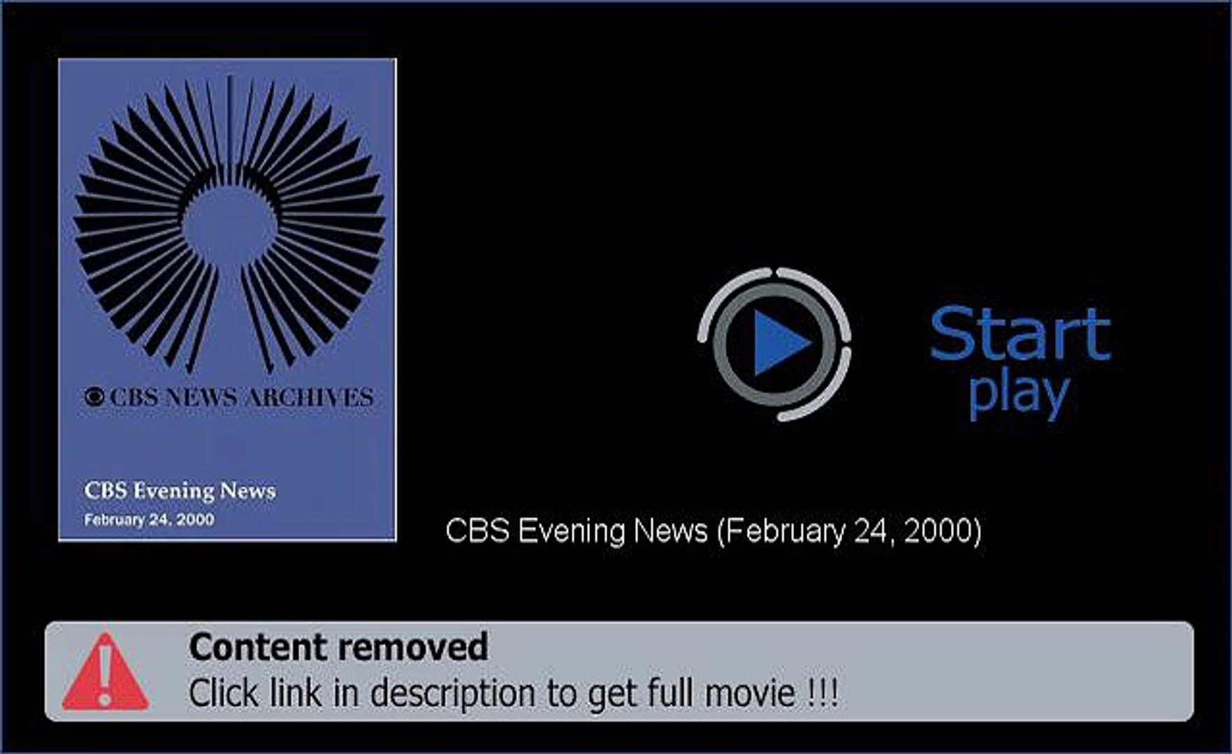Download CBS Evening News (February 24, 2000) Film Hd