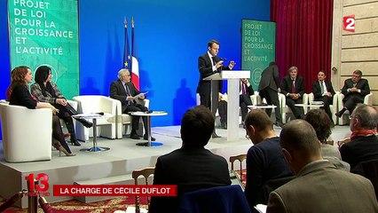 La charge de Cécile Duflot contre François Hollande et Emmanuel Macron