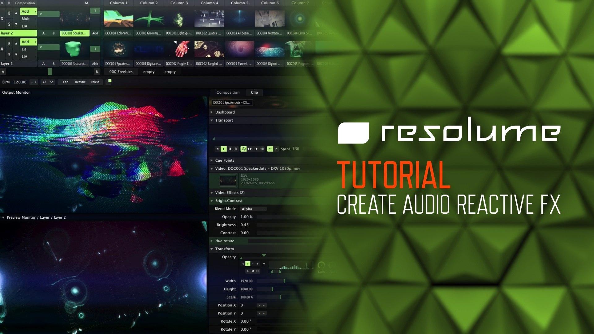 Resolume Arena & Avenue (Tutorial): Create Audio Reactive Effects