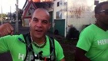 2014/12/31 07h19 1er 100 Mètres Après Départ Défi +50Km de Marche Coach Mickael Plocoste Solidarité Paix Guadeloupe Départ 7h10 Hôtel-de-Ville Baie-Mahault Succès Arrivée 14h40 Mairie Saint-François Mercredi 31 Décembre 2014