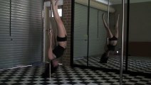 Sexy Pole Dancing -vid 17- Pole practice clips
