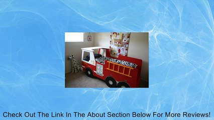 Woodworking Plan for Fire Truck Bed with Full Scale Curves (Twin-size) Review