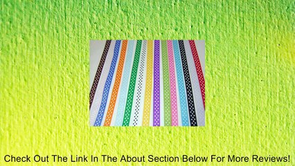 Polka Dot Grosgrain Ribbon -15 Colors 3/8