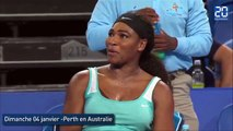 Serena Williams commande un café en plein match