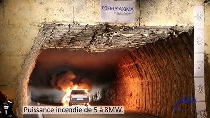 Tunnel de Toulon - Essais Feux