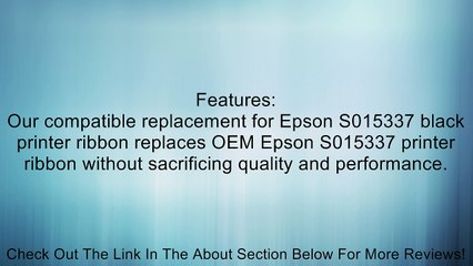 LD 6 Pack ERC-30B Comp Black Ribbon for Epson Printer